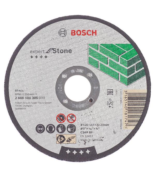 Круг отрезной по камню Bosch 125х22х2.5 мм круг отрезной по камню 180х22х3 мм bosch профи
