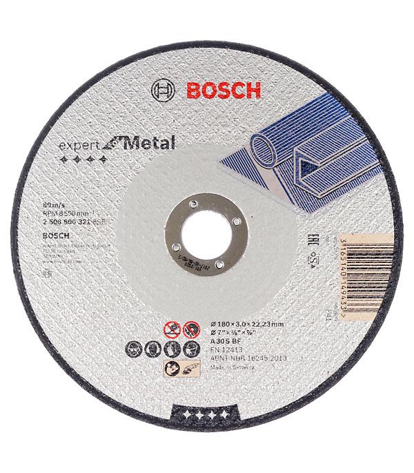 Круг отрезной по металлу Bosch 180х22х3 мм круг отрезной по камню 180х22х3 мм bosch профи