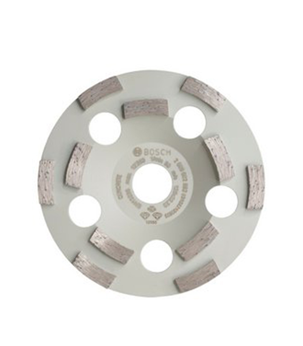 Чашка алмазная для бетона Bosch Профи 125х22 мм двурядная диск шлифовальный с липучкой р40 d 125 мм 5 шт перфорированный bosch профи