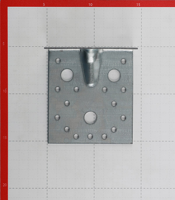Уголок крепежный усиленный оцинкованный 105 (100)x105 (100)x90x1,8 мм фото