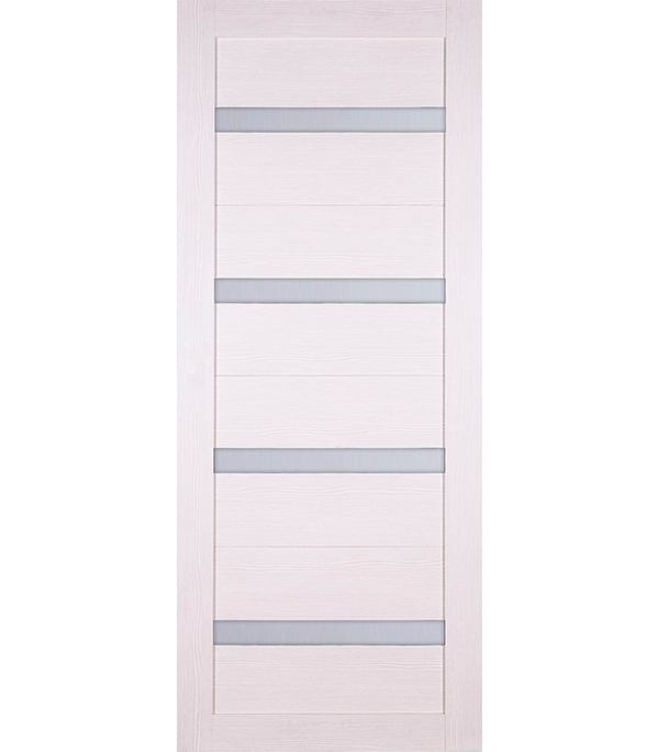 Дверное полотно экошпон Принцип ЛАЙТ 24 лиственница белая 900мм со стеклом без притвора