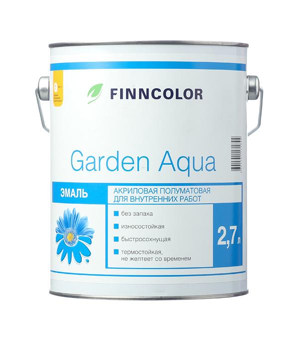 Эмаль акриловая Finncolor Garden Aqua основа A полуматовая 2,7 л эмаль акриловая eskaro norden 70 универсальная 2 7л