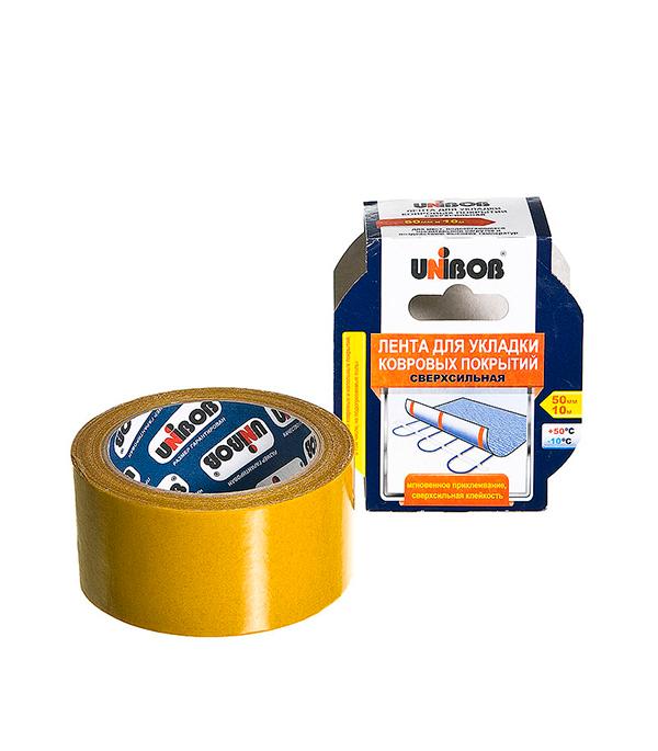 цена на Лента Unibob для укладки ковровых покрытий ткань 50 мм х 10 м