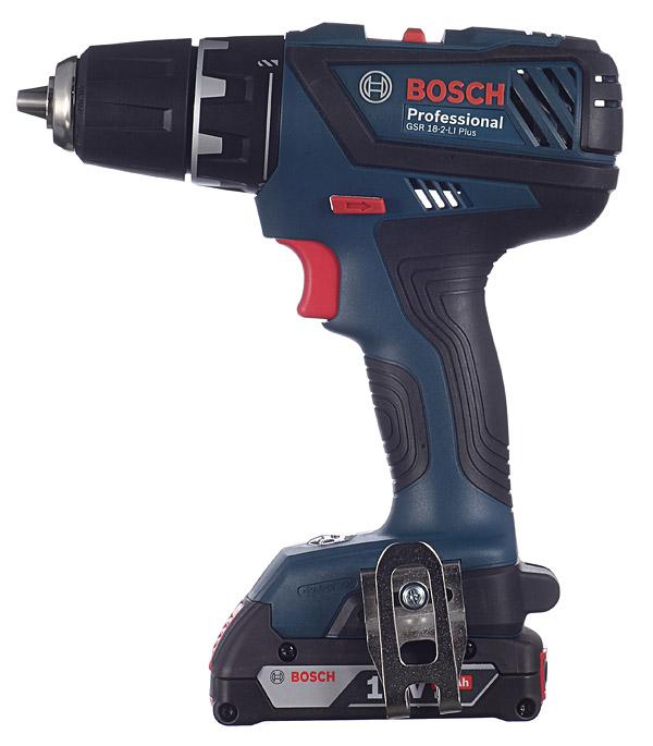 Фото - Дрель-шуруповерт аккумуляторная Bosch GSR 18-2-LI Plus 18 В 2.0 Ач 63 Нм Li-Ion аккумулятор dexter 2 ач li ion 18 в для аккумуляторного инструмента