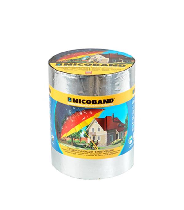 Купить Лента гидроизоляционная Nicoband серебристый 3 м х 10 см, Серебристый
