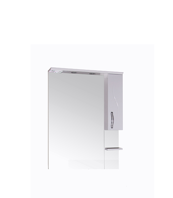 Зеркальный шкаф АСБ-Мебель Грета 800 мм с подсветкой белый