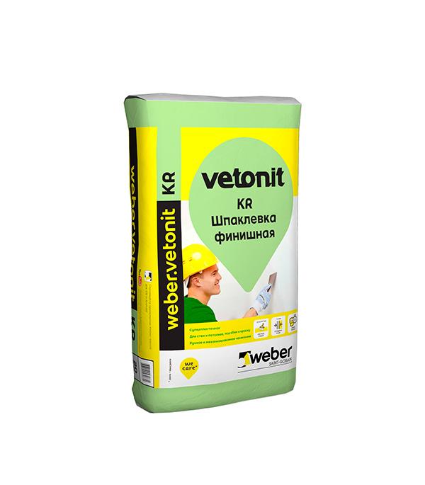 Купить Шпаклевка на органическом связующем weber.vetonit KR белая 20 кг