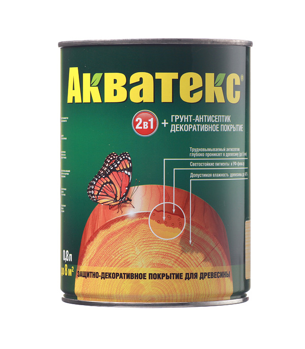 Антисептик Рогнеда Акватекс бесцветный 0.8 л защитное покрытие для древесины акватекс белый рогнеда 10л