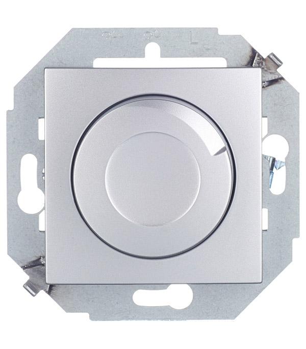 Регулятор напряжения поворотно-нажимной 500Вт 230В винтовой зажим алюминий Simon 15