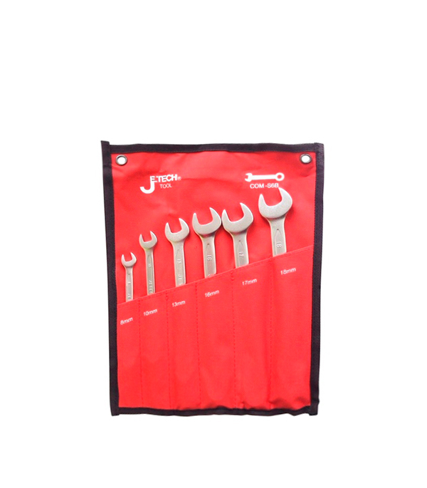 Ключ рожково-накидной 8-18 мм набор (6 шт)