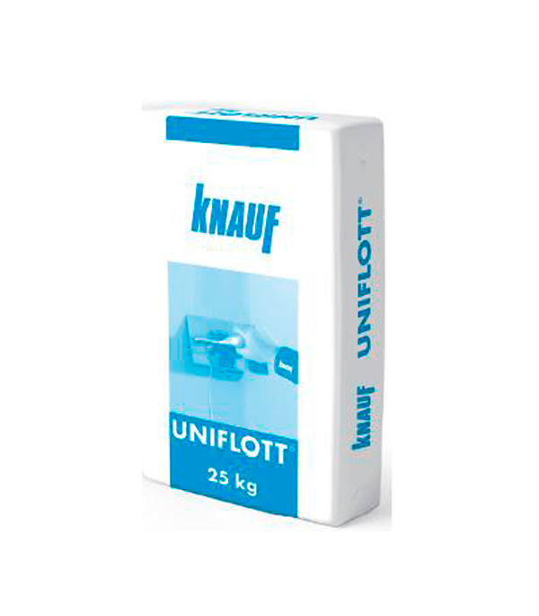 Шпаклевка гипсовая высокопрочная Knauf Унифлот 25 кг knauf кнауф ротбанд финиш шпаклевка гипсовая 25кг rotband finish шпаклевка гипсовая финишная 25кг