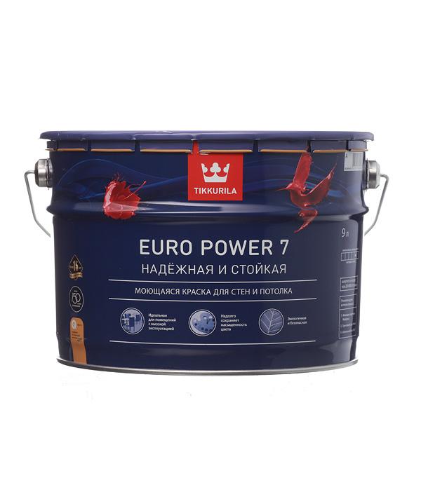 цена на Краска в/д Tikkurila Euro Power 7 латексная основа A матовая 9 л
