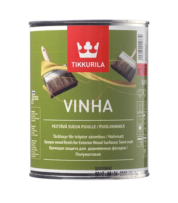 Купить Антисептик кроющий Tikkurila Vinha основа VC 0.9 л, Бесцветный