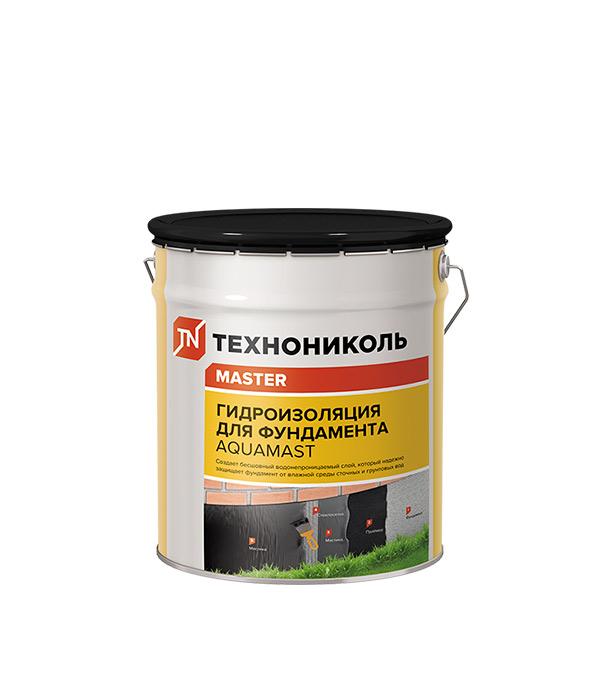 Мастика битумная Гидроизоляция для фундамента АкваМаст 18 кг гидроизоляция боларс hydroflex 6 кг