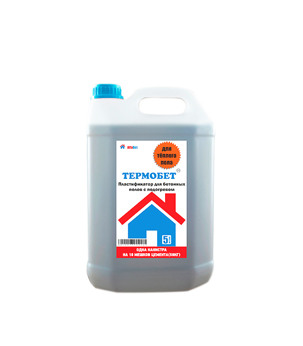 Пластификатор в цем. растворы Термобетон Альфабетон 5 л добавка 5 букв