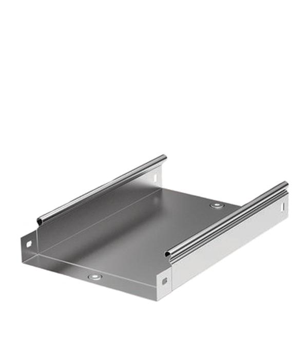 Лоток металлический неперфорированный ДКС 100х50 мм 3 м неперфорированный лоток 200х50 l3000 дл 3м iek cln10 050 200 3 209264