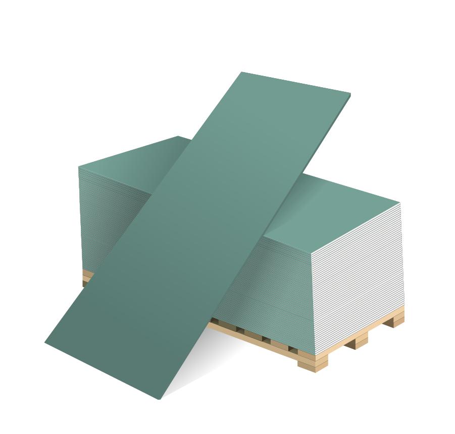 Гипсокартон ВОЛМА 3000х1200х12.5 мм влагостойкий, Волма  - Купить