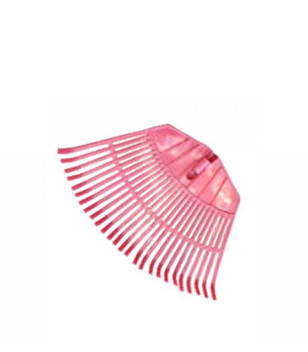 Грабли пластиковые веерные без черенка 26 зубьев грабли веерные skrab цвет оранжевый 14 зубов
