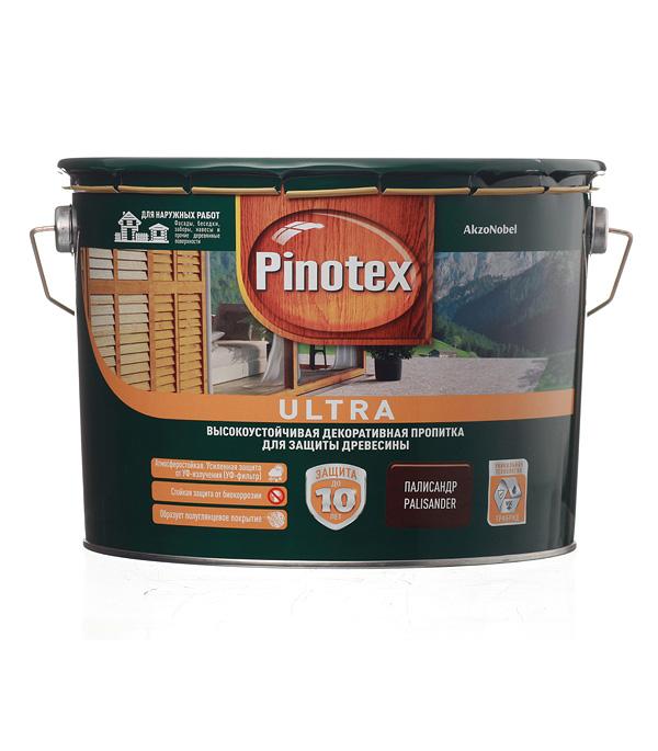 Декоративно-защитная пропитка для древесины Pinotex Ultra палисандр 9 л