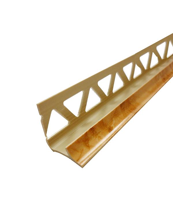 Уголок ПВХ для кафельной плитки внутренний 9х2500мм карский мрамор уголок пвх rico moulding 20х20х2700мм бук натуральный