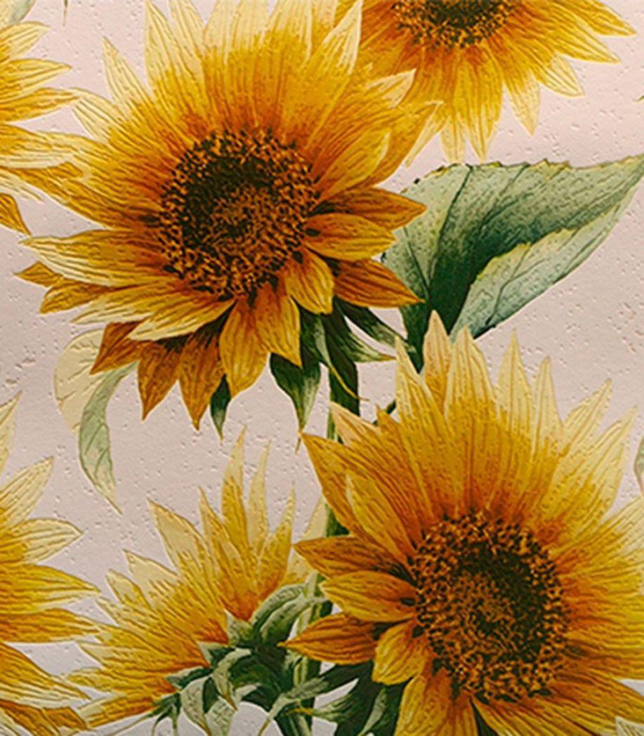 Обои виниловые на бумажной основе Elysium Подсолнухи 0,53х10м 900701 shinhan wallcoverings 82025 3 flora обои виниловые на бумажной основе 1 06 15 6