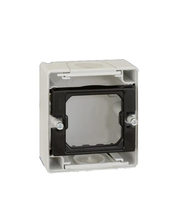 Основание под 1-местную рамку IP55 открытый монтаж 75х84х33мм S44 Aqua серый подгузники children le ann s44