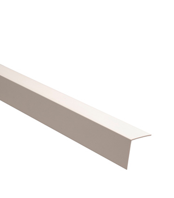 Уголок отделочный пластиковый 50х50х2700 мм белый