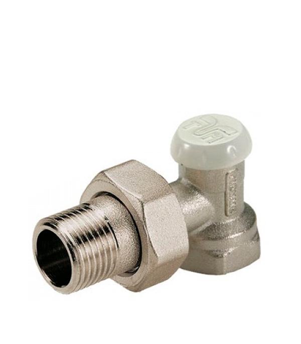 Клапан (вентиль) запорный угловой Tiemme 3/4 НР(ш) х 3/4 ВР(г) для радиатора клапан вентиль запорный прямой tiemme 3 4 нр ш х 3 4 вр г для радиатора