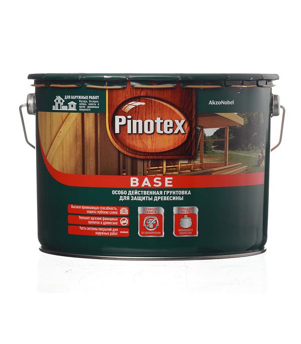 Антисептик Pinotex Base грунтовочный для дерева бесцветный 9 л
