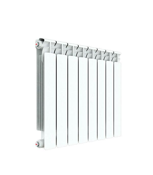 Радиатор биметаллический Rifar Alp 500 мм 4 секции 1 боковое подключение белый биметаллический радиатор rifar рифар b 500 нп 10 сек лев кол во секций 10 мощность вт 2040 подключение левое