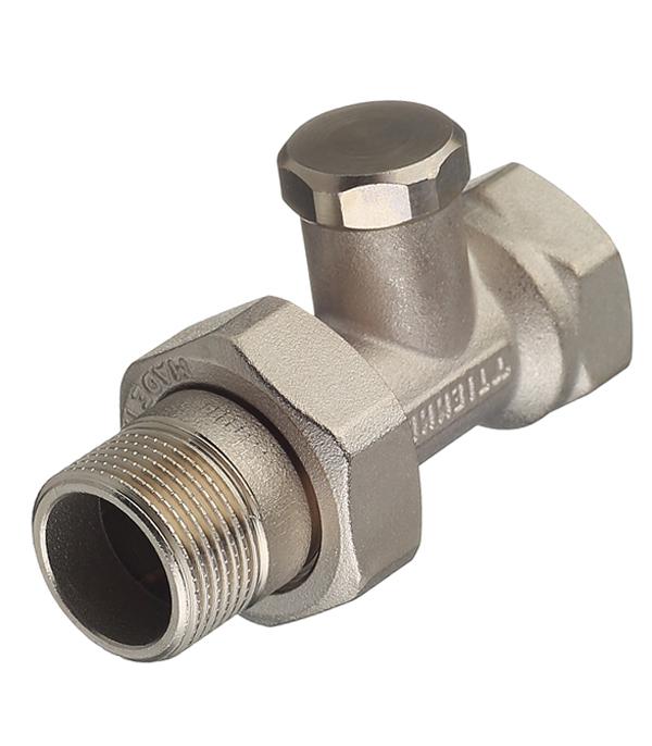 Клапан (вентиль) запорный прямой Tiemme 3/4 НР(ш) х 3/4 ВР(г) для радиатора клапан вентиль запорный прямой tiemme 3 4 нр ш х 3 4 вр г для радиатора