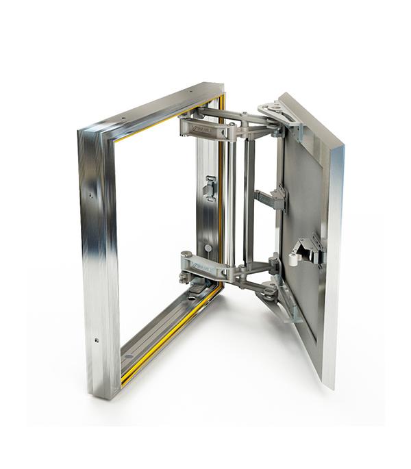 Люк ревизионный 400х400 мм под плитку алюминиевый Слава Хаммер