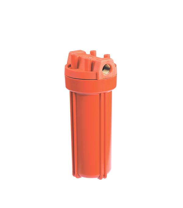 Корпус фильтра Гидротек для горячей воды 10SL 1/2 ВР(г) x 1/2 ВР(г) оранжевый