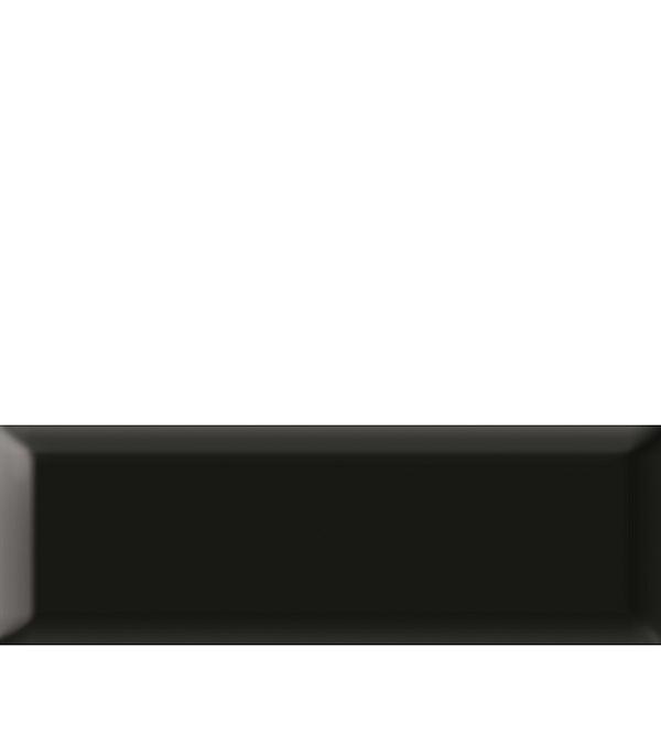 Плитка облицовочная Метро 100х300х8 мм черная (21 шт=0.63 кв.м) плитка декор 100х300х8 мм метро гжель 01 бело синий