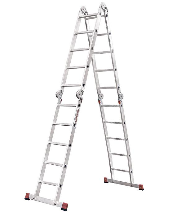 Лестница трансформер Новая высота четырехсекционная алюминиевая 4х5 профессиональная