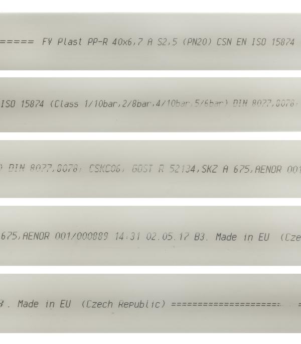 Труба полипропиленовая FV PLAST (101040) 40х2000