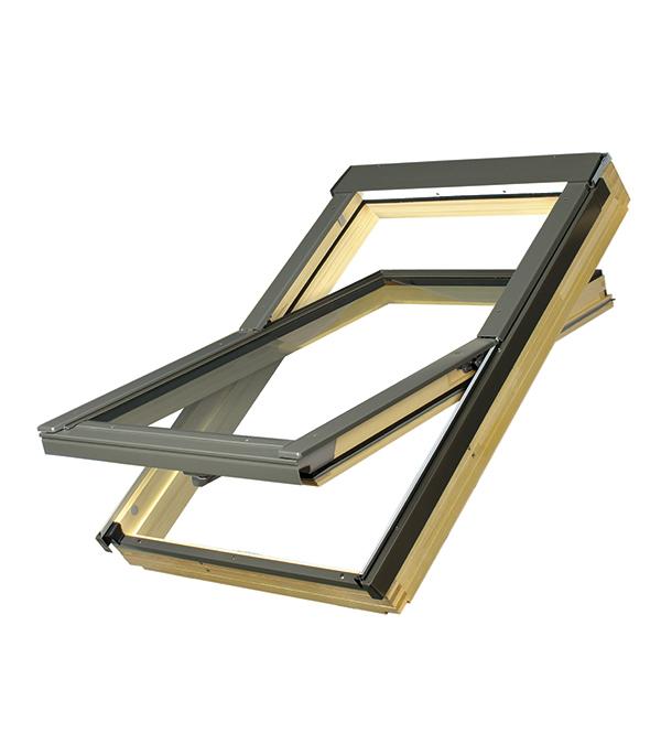 Окно мансардное Fakro FTS U2 Стандарт 660х1180 мм комплект гидро паро теплоизоляции fakro xdk 660х1180 мм