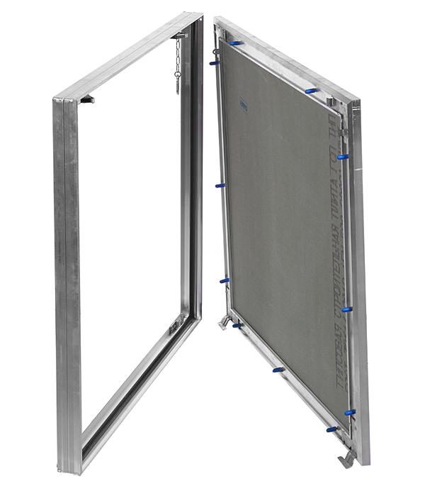 Люк ревизионный под плитку Хаммер Гиппократ-П алюминиевый 600х600 мм скрытый нажимной