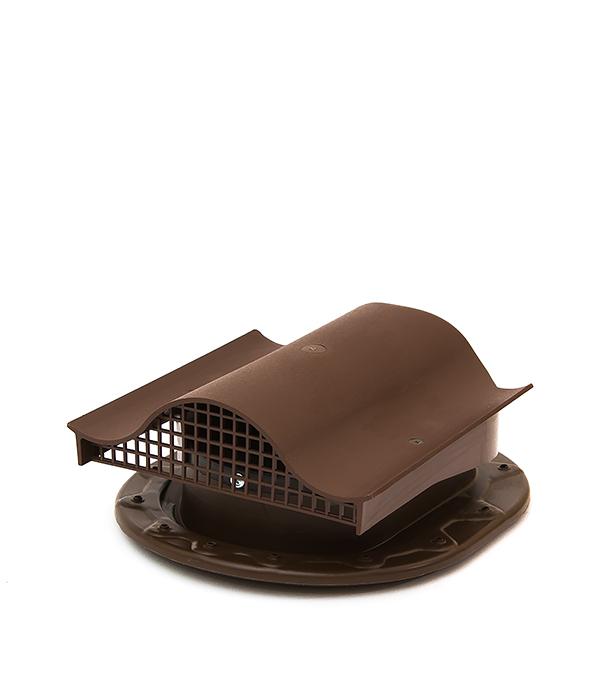 Аэратор Поливент-КТВ-вентиль для готовой кровли из гибкой черепицы коричневый