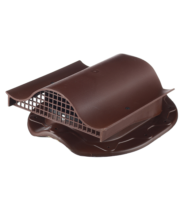 Аэратор Поливент-КТВ-вентиль для готовой кровли из металлочерепицы коричневый цена