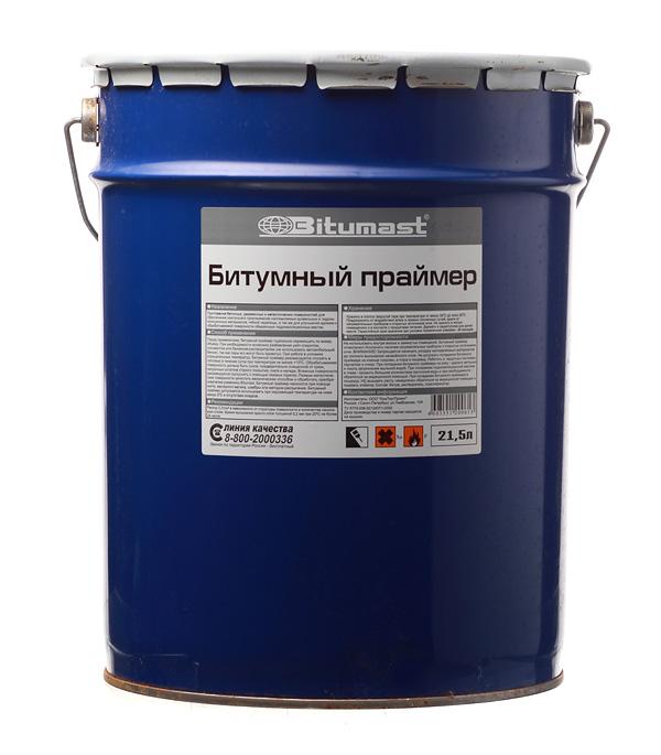 Купить Праймер битумный Bitumast 18 кг/21.5 л, Черный
