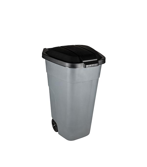 Контейнер мусорный 110 л пластиковый с крышкой на колесах