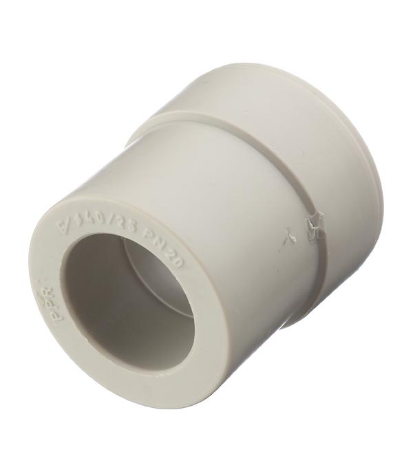 Муфта полипропиленовая переходная 40х25 мм FV-PLAST серая стоимость