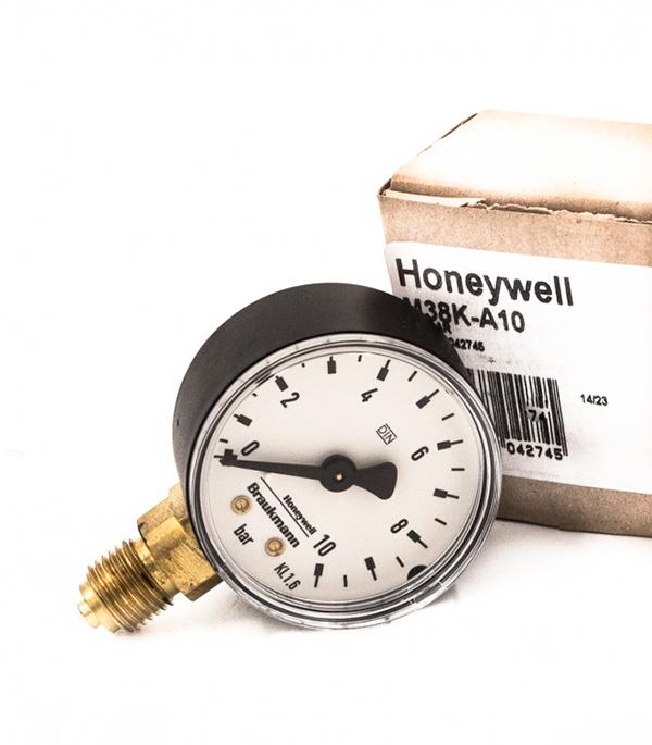 Манометр радиальный Honeywell M38K-A10 (для D04; HS10S) клапан понижения давления honeywell d04fm 3 4 a