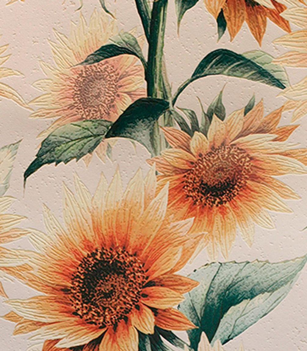 Обои виниловые на бумажной основе Elysium Подсолнухи 0,53х10м 900702 shinhan wallcoverings 82025 3 flora обои виниловые на бумажной основе 1 06 15 6