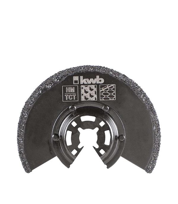 Пильное абразивное полотно KWB Стандарт 87 мм для МФУ пильное полотно для мфу по металлу 10 мм kwb стандарт