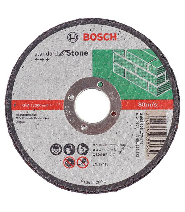 Круг отрезной по камню 115х22х3 мм Bosch Профи круг отрезной по камню 180х22х3 мм bosch профи