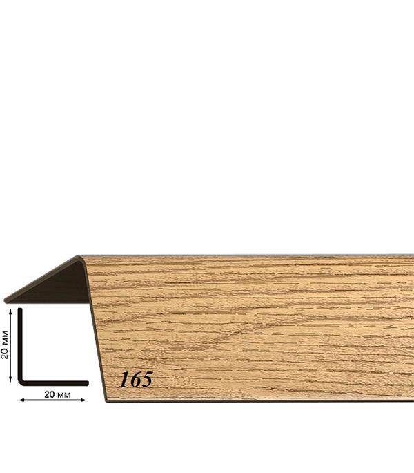 Угол пластиковый с тиснением 20х20х2700 дуб коньячный 165