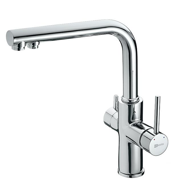 Смеситель для кухни LEMARK COMFORT LM3060C с высоким изливом с подключением к фильтру для питьевой воды смеситель lemark comfort lm3060c