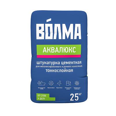 цена на Волма Аквалюкс (штукатурка цементная легкая), 25 кг